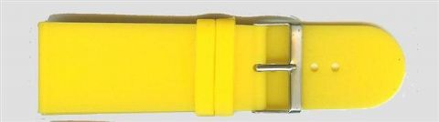 Yellow Rubber Watch Strap 30mm